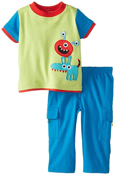 Amazon.com: Nuby bebé Boys 2 piezas Pant Set Baby Monster ...