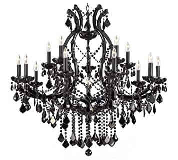Jet black chandelier crystal lighting chandeliers 37x38 amazon jet black chandelier crystal lighting chandeliers 37x38 mozeypictures Image collections