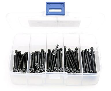 Black Oxide Finish iExcell 250 Pcs M3 x 6//8//10//12//16 mm 12.9 Grade Alloy Steel Hex Socket Head Cap Screws Assortment