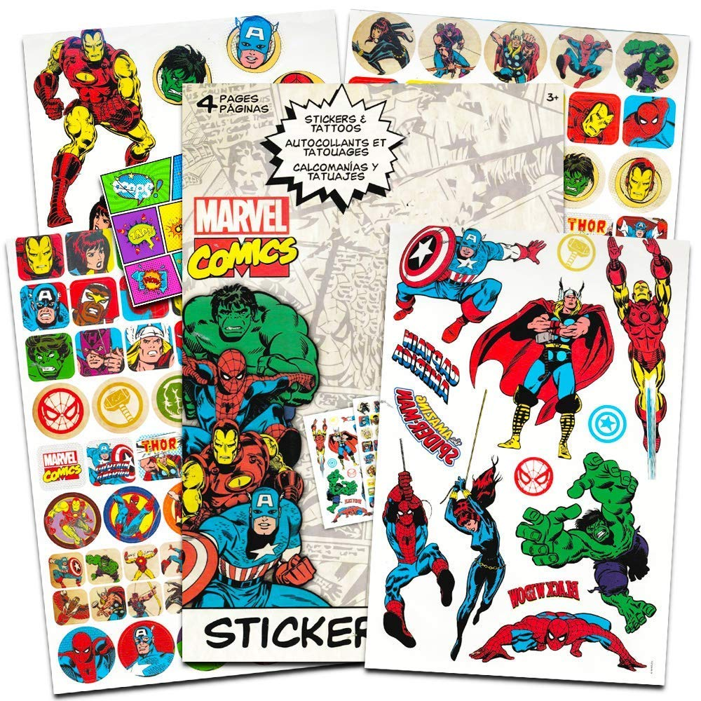 Marvel Comics Avengers Fun Set Avengers Stickers Avengers Tattoos Specialty PopArt Sticker