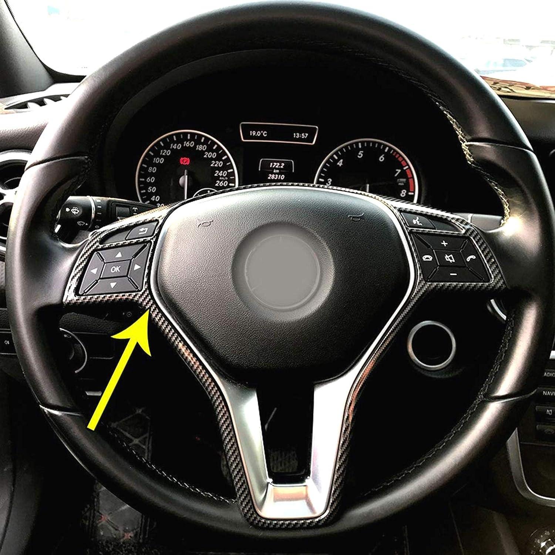 DULALA Couvre Volant Cadre de Volant de Voiture Garniture Couverture pour Mercedes A B C E Cla CLS Gla Glk Classe W176 W246 W204 W207