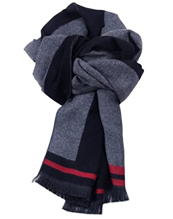 b2b29cce872d Fashion Men Long Scarves Cashmere Warm Collar Casual Stripes With Exquisite  Gift Box