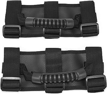 Oryx Auto Roll Bar Grab Handles 4 Pack for Jeep Wrangler CJ YJ TJ LJ JK JL Premium Quality Roll Bar Accessories