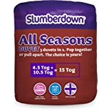 Slumberdown All Seasons 3-in-1 15 Tog Combi Duvet, White, King Size Bed