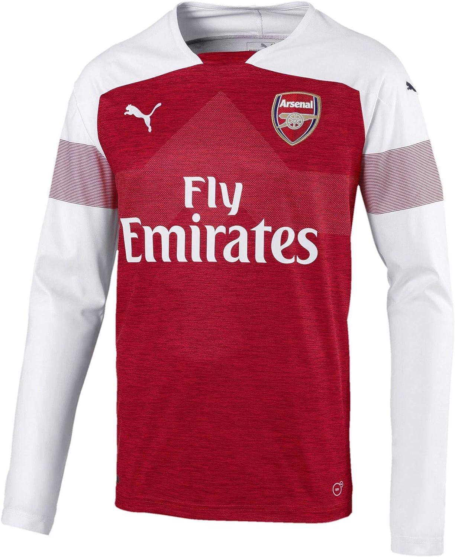 Puma Arsenal 2018/19 Mens Long Sleeve Home Football Jersey Shirt Red