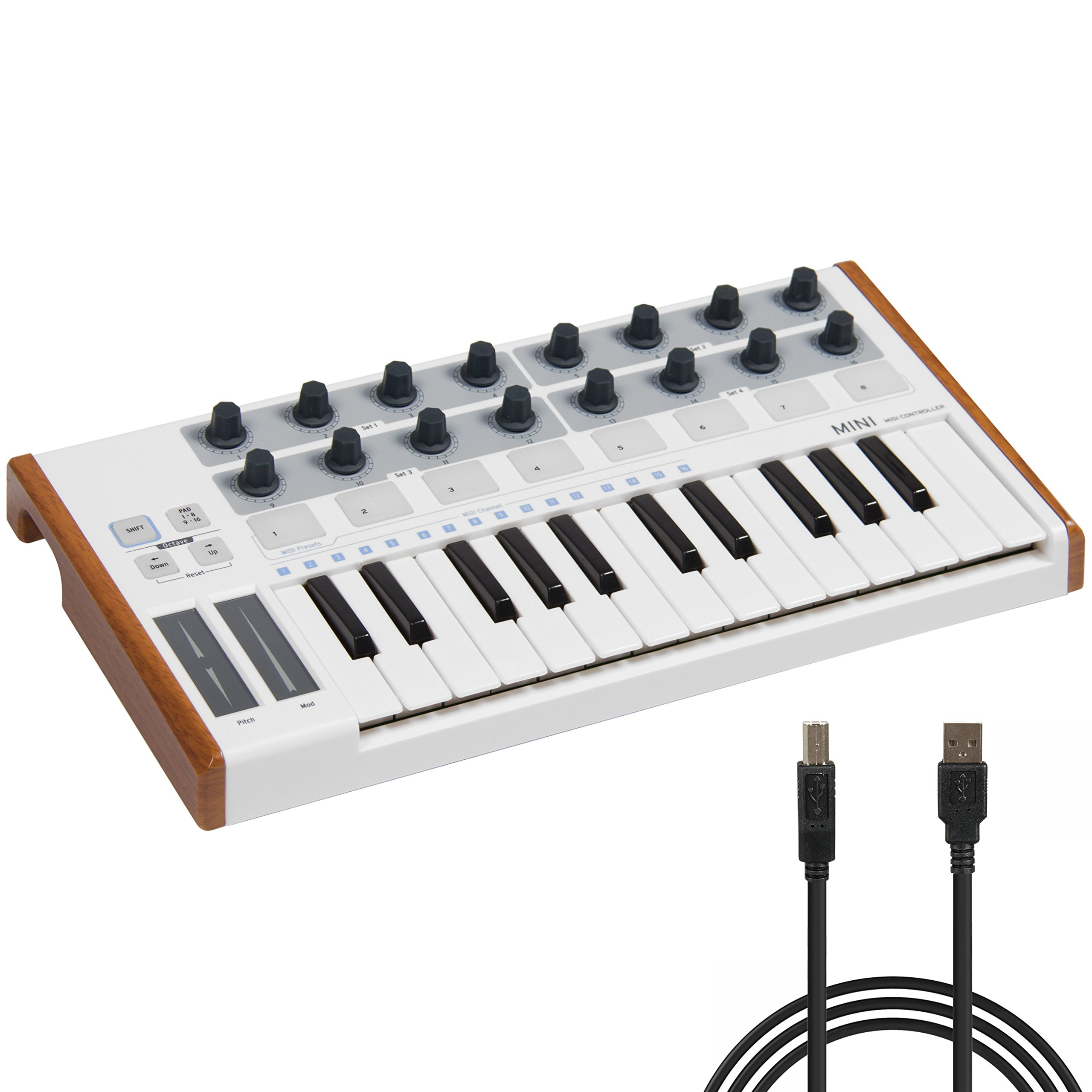 Best Choice Products 25 Key USB MIDI Controller Keyboard Drum Pad by Best Choice Products