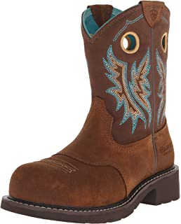 Amazon.com | Ariat Women's Fatbaby Cowgirl Steel Toe Western ...