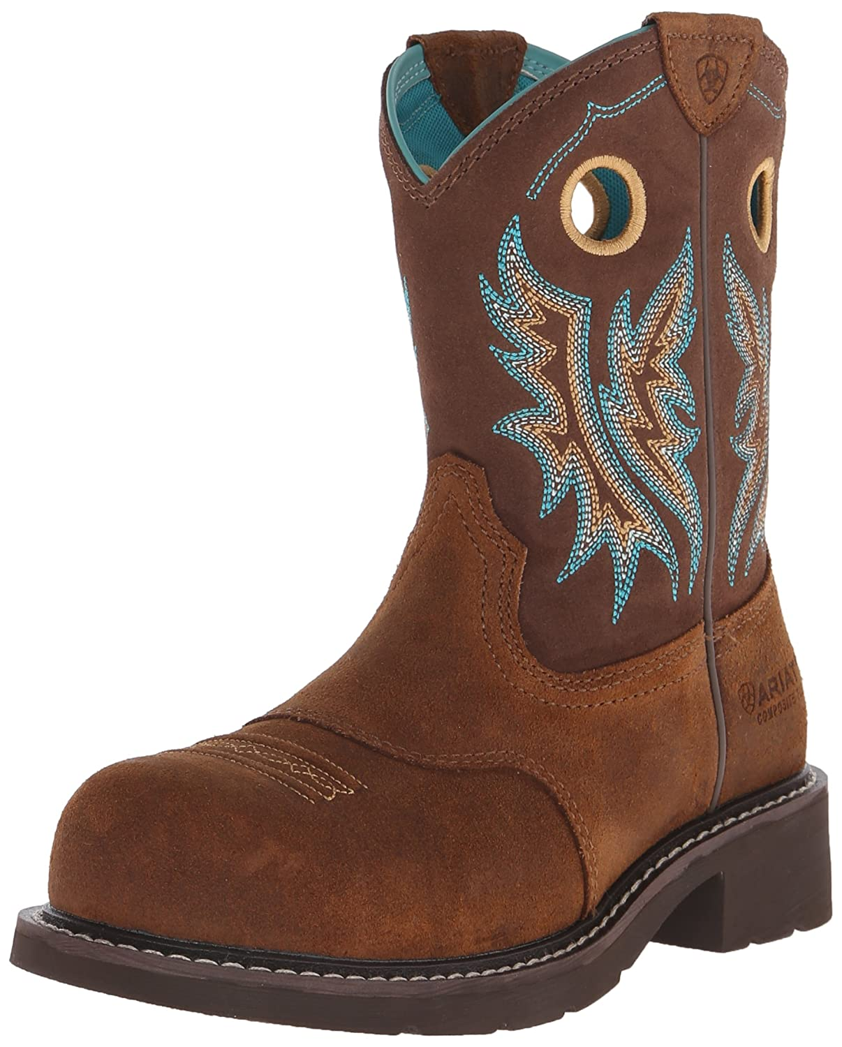 Ariat Women's Fatbaby Cowgirl Composite Toe Work Boot B00U9Y7V04 7.5 B(M) US|Fireside/Tan