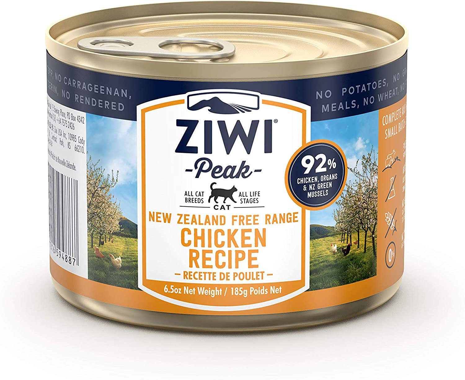 ZIWI Peak Canned Wet Cat Food – All Natural, High Protein, Grain Free & Limited Ingredient, with Superfoods