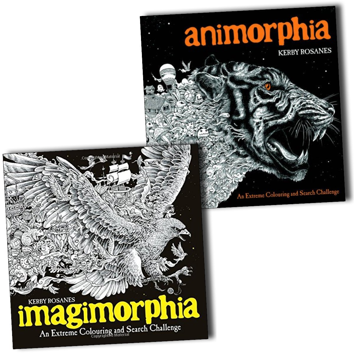 Animorphia an extreme coloring and search challenge by kerby rosanes - Animorphia And Imagimorphia An Extreme Colouring And Search Challenge 2 Books Collection Amazon Co Uk Kerby Rosanes 9789124367916 Books