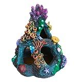 【J's select】水槽用 オブジェ アクアリウム オーナメント 珊瑚 サンゴ 装飾 魚 の 隠れ家に (カラフル2)