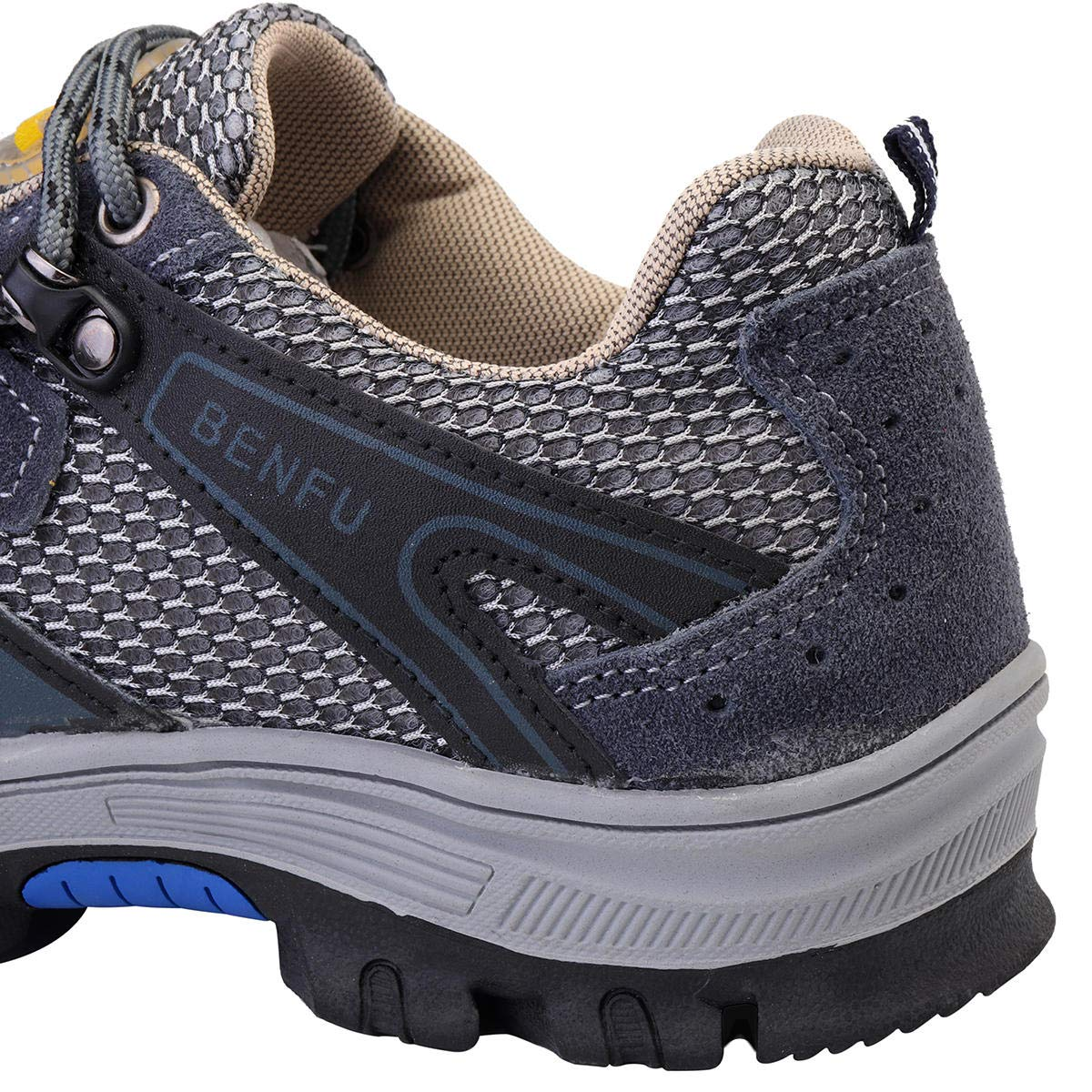 Men's Safety Shoes Steel Toe Work Sneakers Slip Resistant Breathable Hiking Climbing Shoes - 7.5 by Anddoa (Image #4)