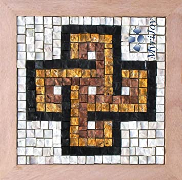 Amazon diy mosaic kit for beginners easy solomons knot 9x9 diy mosaic kit for beginners easy solomons knot 9quotx9quot italian marble pre solutioingenieria Gallery