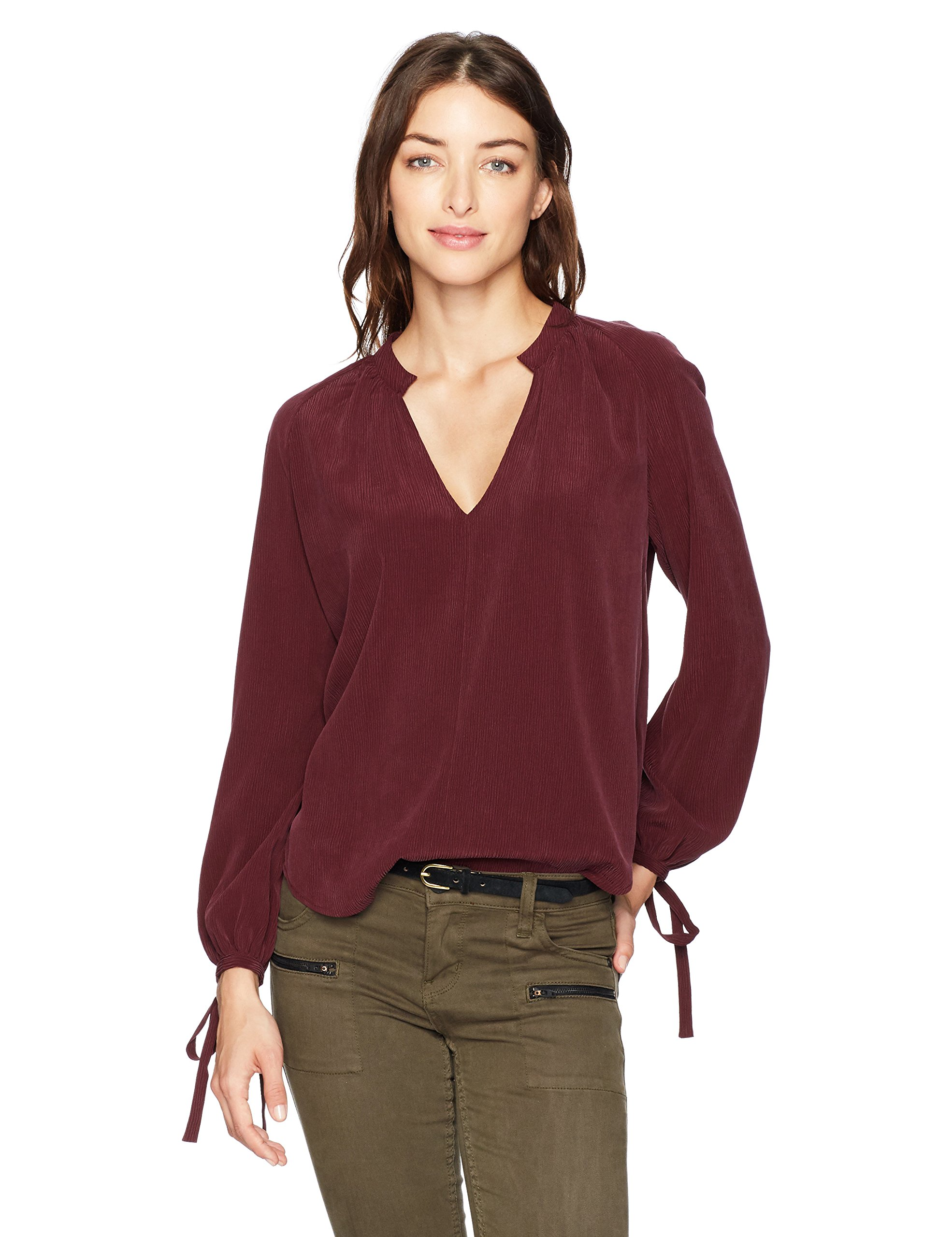 AG Adriano Goldschmied Women's Karina Top, Washed Deep Currant, M