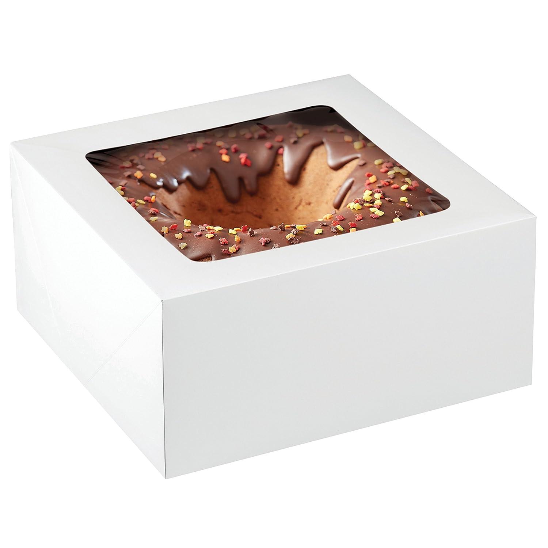 Wilton 12-Inch Cake Box with Window for 10-Inch Cake 2-Piece Set