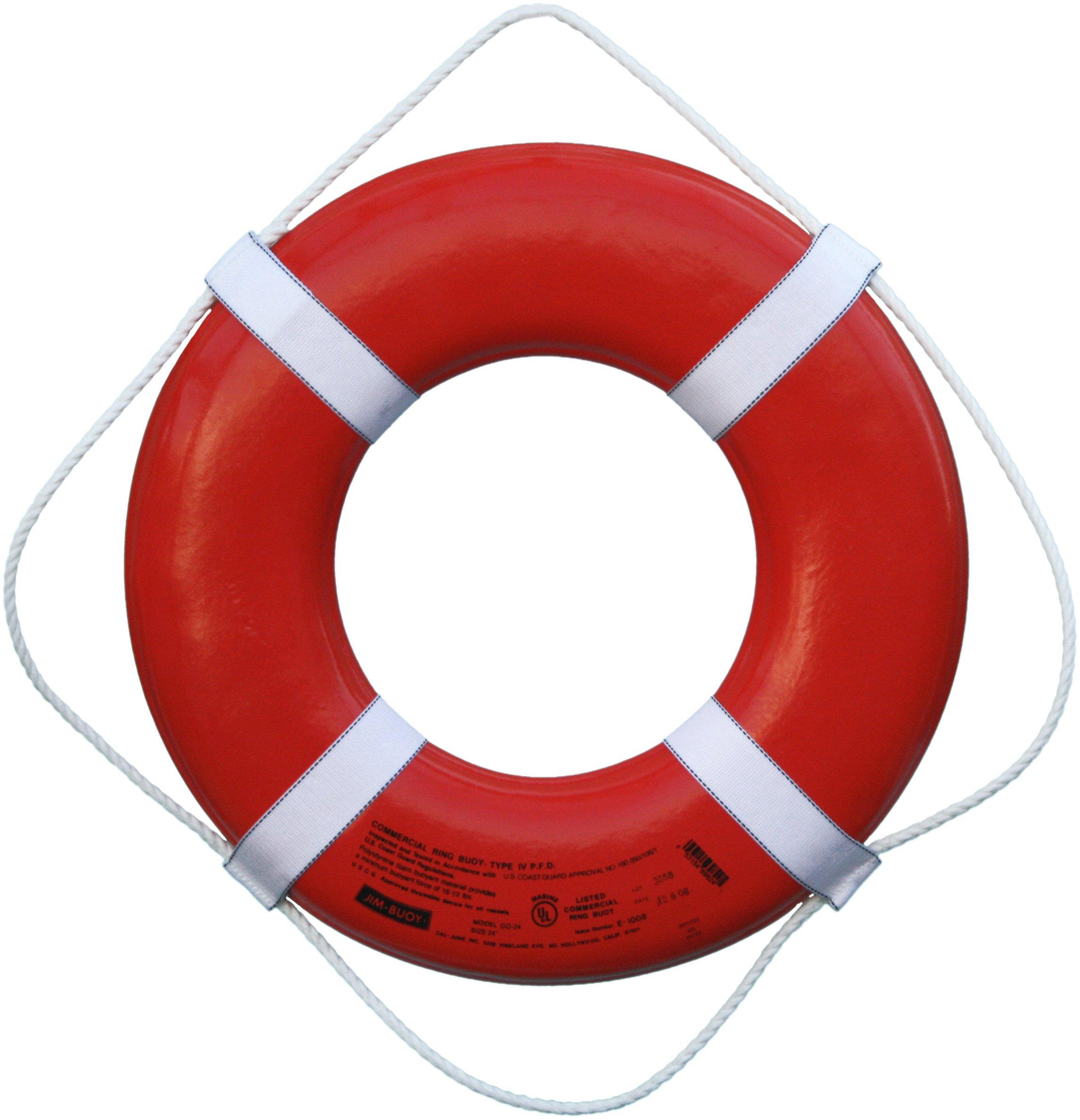 Cal June USCG Approved Ring Buoy (24- Inch Diameter, Orange)
