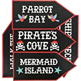 Pirate Party Supplies - 12-Pack Word Cutouts Signs for Theme Party Decorations, Kids Birthday Party Favours on 350 GSM Cardstock Paper, 44cm x 20cm
