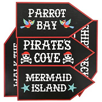 Pirate Wanted Sign Cutouts One Size
