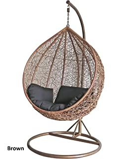 Dirty Pro Tools Brown Colour Rattan Swing Chair Outdoor Garden Patio Hanging  Wicker Weave Furniture