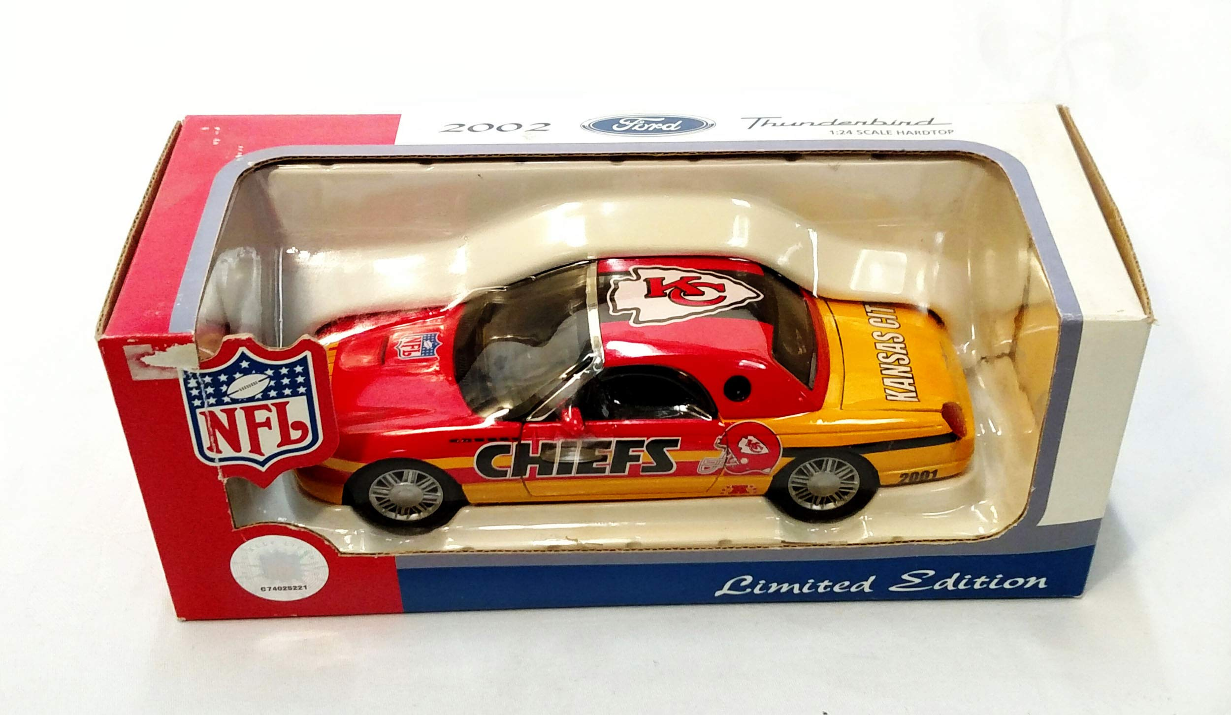 Kansas City Chiefs 2002 Ford Thunderbird Limited Edition Die Cast Collectible