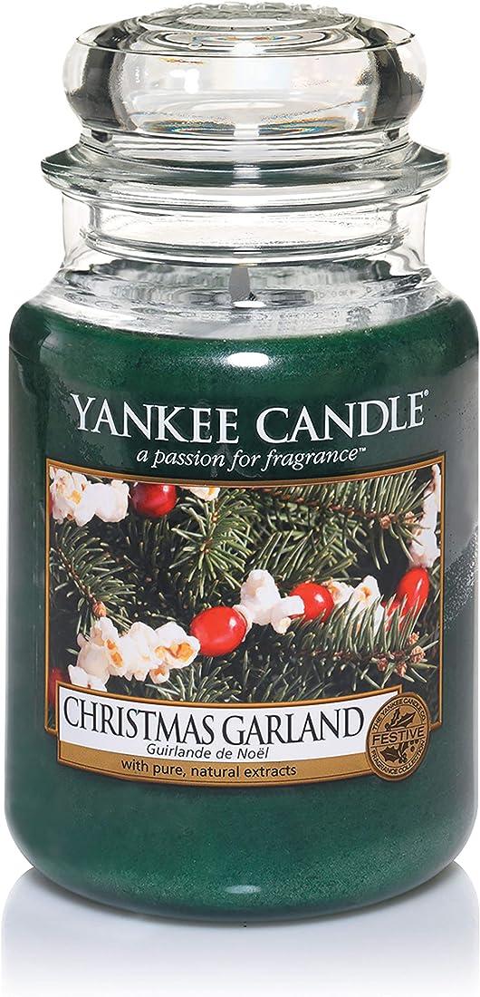 Yankee candle christmas garland candela in giara grande, fino a 150 ore di combustione 1316480EZ