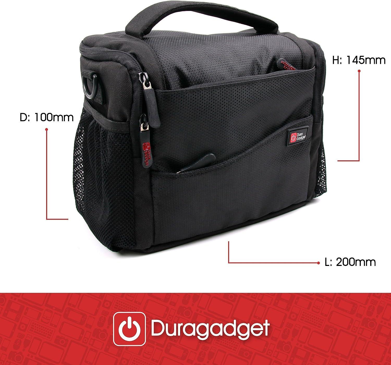 Suitable for Nikon 7x15 HG Monocular DURAGADGET Large Padded Double-Zip Holdal Case with Adjustable Shoulder Strap