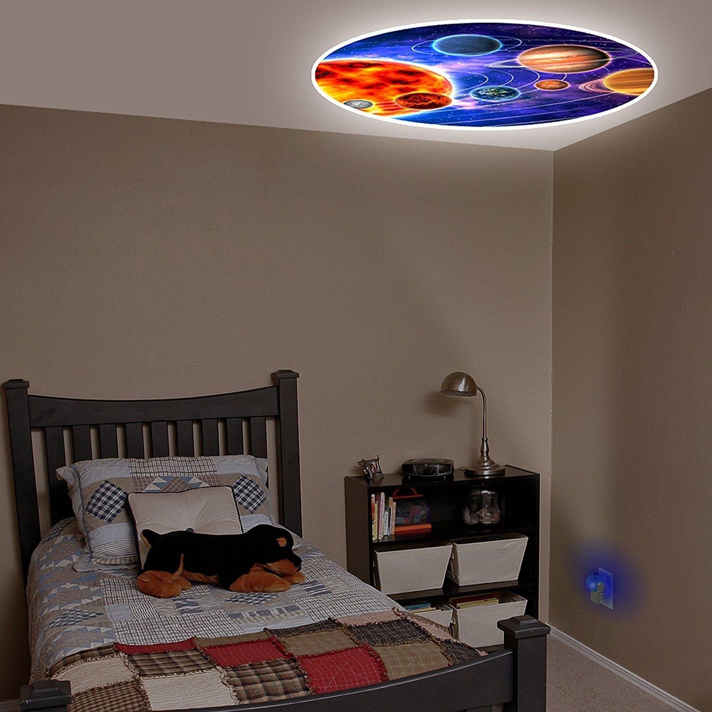 新しいセットBaby Fall Asleep FastベビーベッドベッドLEDライトソフトDream Light PlanetsプラネタリウムProjectables LEDプラグインナイトライト – ベッドルーム壁装飾プロジェクタ   B079YNVVGS