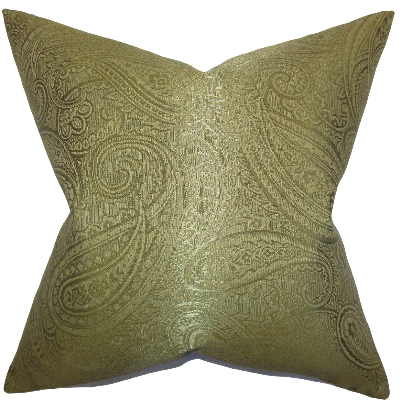 The枕コレクションp20-d-73020-basil-c65p35 Cashelペイズリー枕、グリーン、20