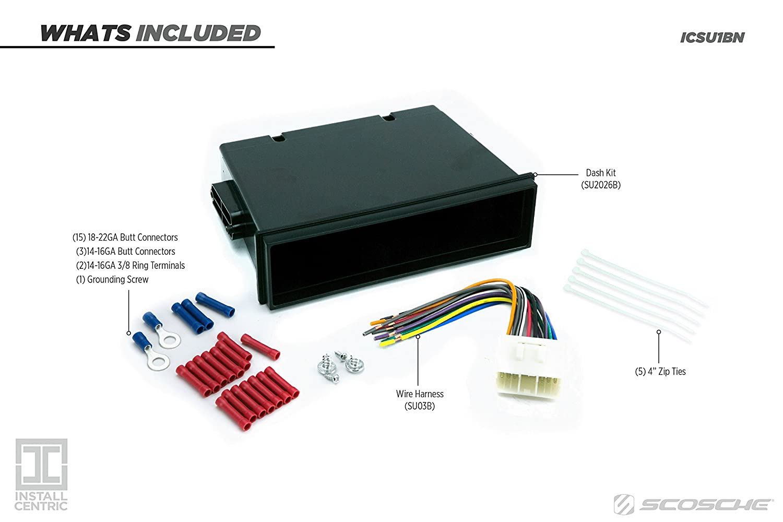 Install Centric ICSU1BN Subaru 1995-04 Pocket Complete Installation Kit SCOSCHE