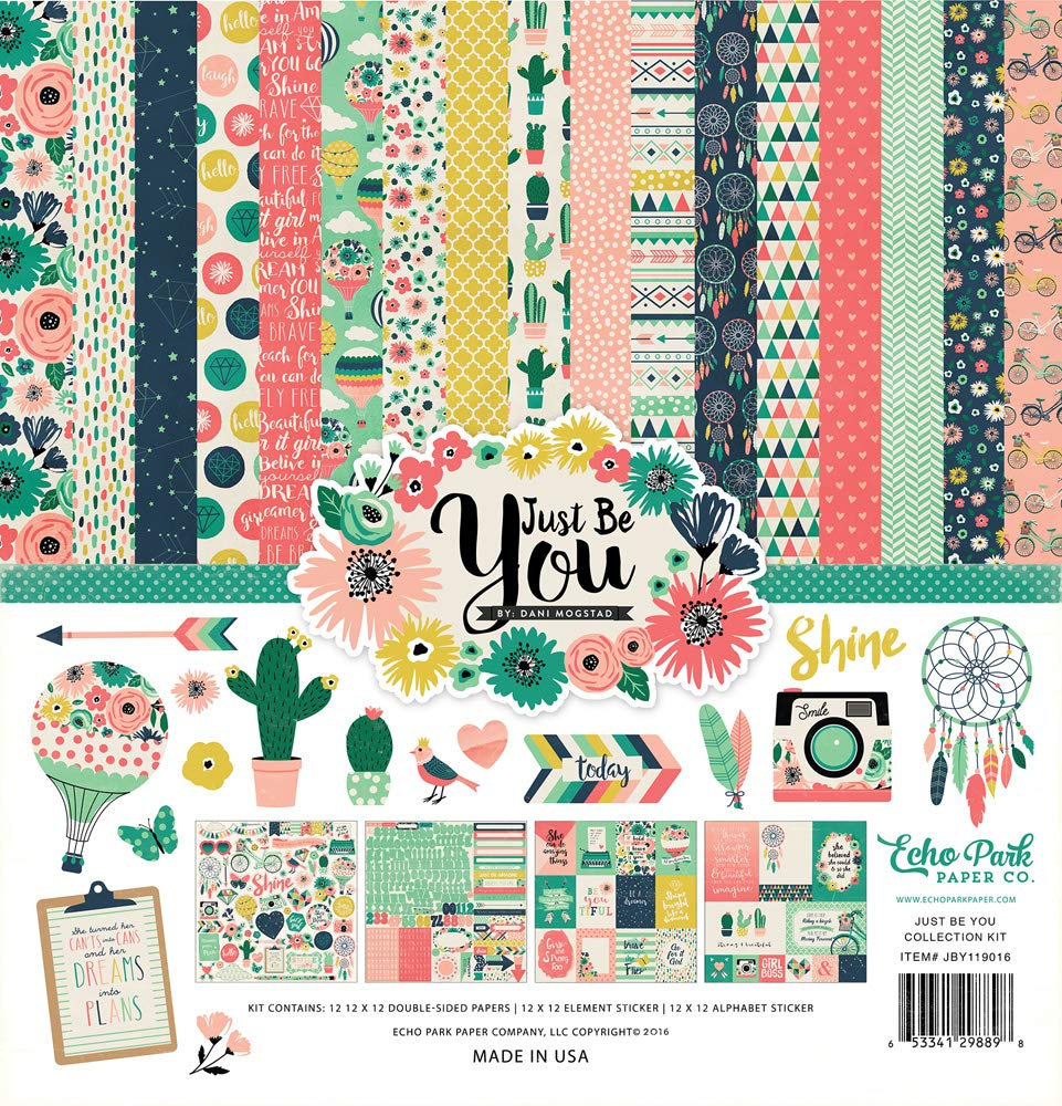 Item: JBY119016TM 12x12 Scrapbooking Collection Kit Echo Park Just Be You by Dani Mogstad Copyright 2016