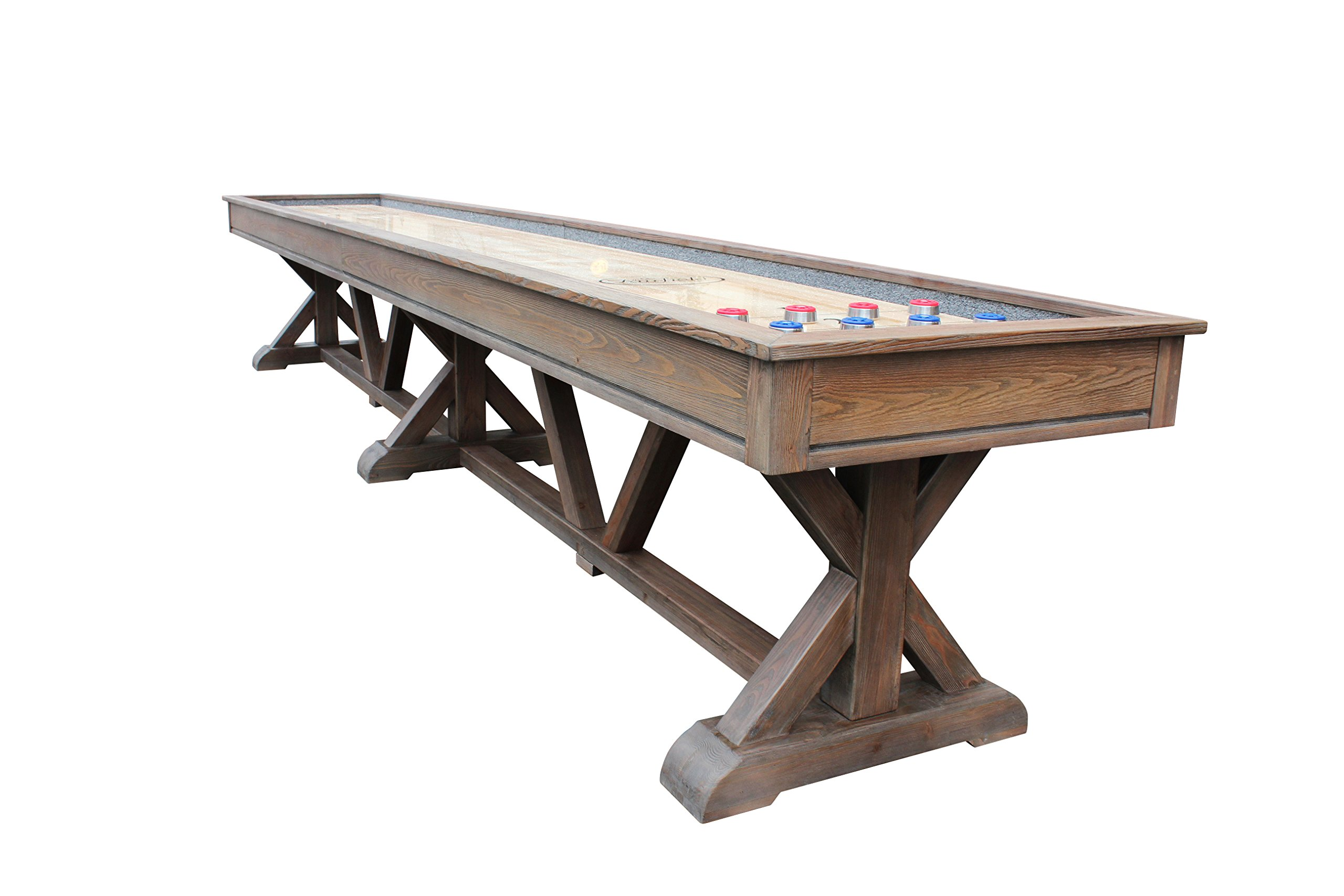 Playcraft Brazos River Weathered Barn 16' Pro-Style Shuffleboard Table by Playcraft