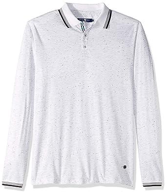 Stone Rose Hombre MCM7221 Manga Larga Camisa Polo - Blanco - Small ...