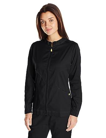 abcad07a548 WonderWink Next Boston Warm Up Women's Scrub Jacket, Black, X-Small