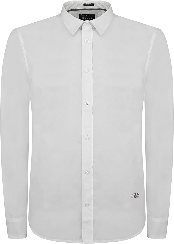 Guess Camisa Hombre Classic Poplin Negro M: Amazon.es: Ropa y ...