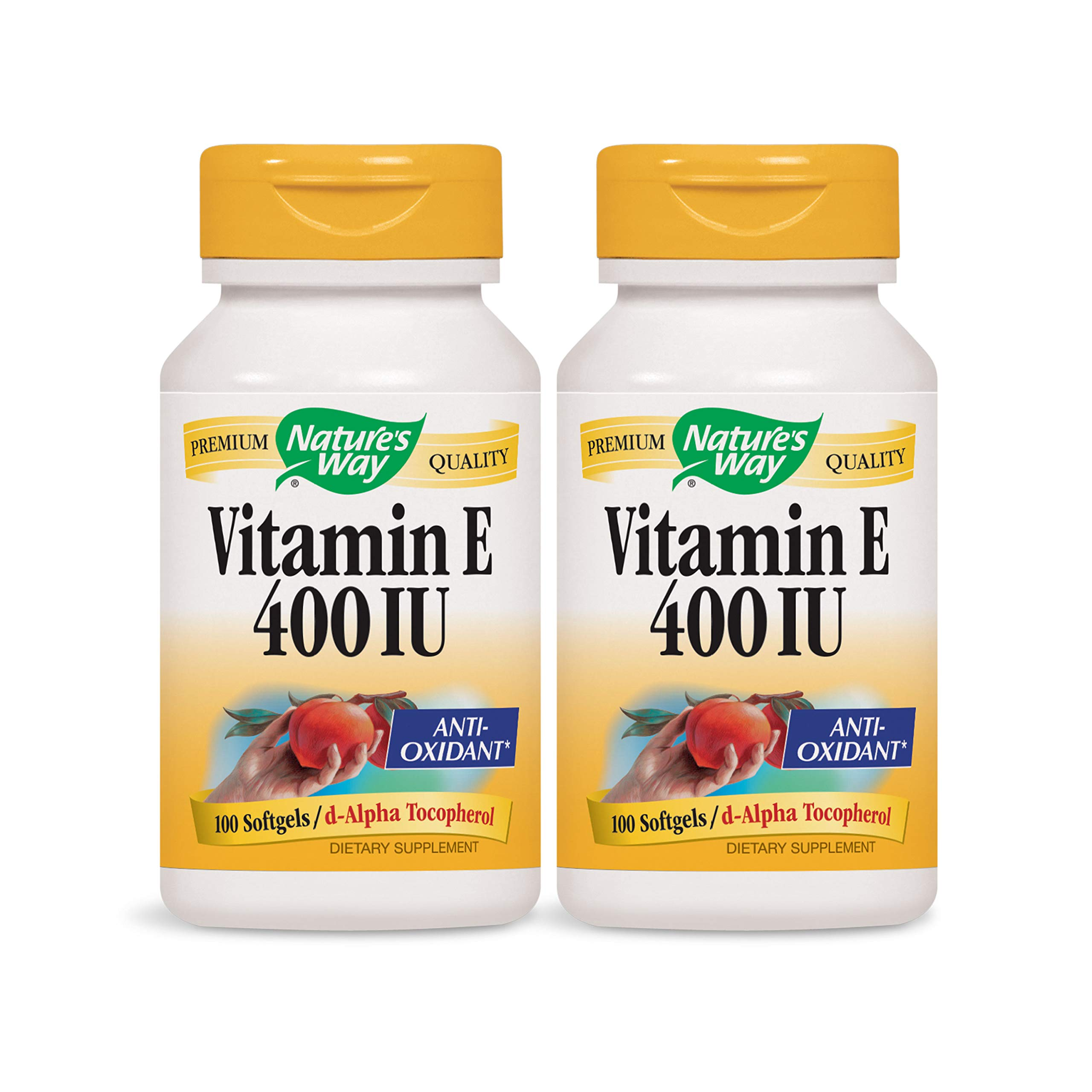 Nature's Way Vitamin E 400 IU, 100 Softgels, Pack of 2 by Nature's Way