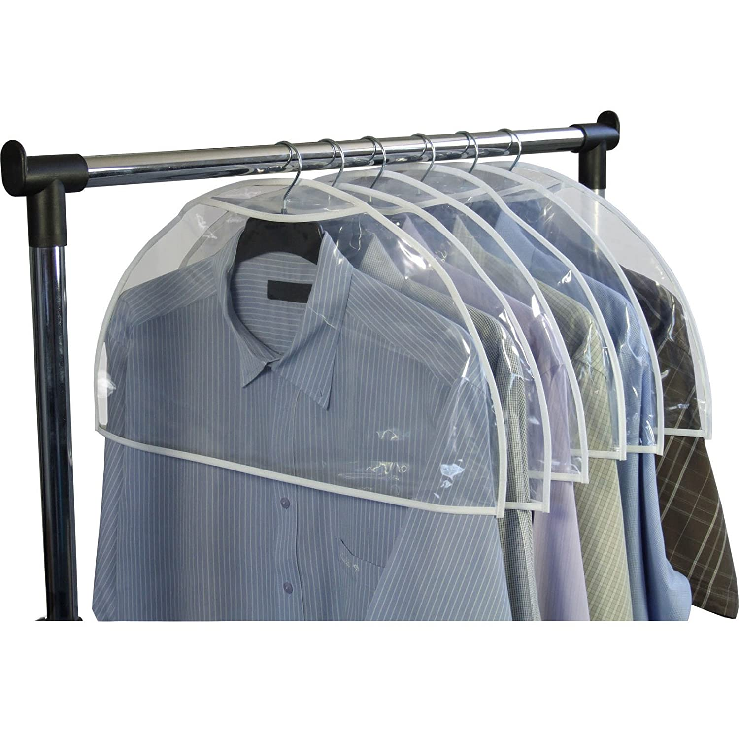 Amazon.com: Hangerworld Pack Of 20 Clear Shoulder Covers   Protect Clothes  From Dust, Dirt U0026 Marking: Home U0026 Kitchen