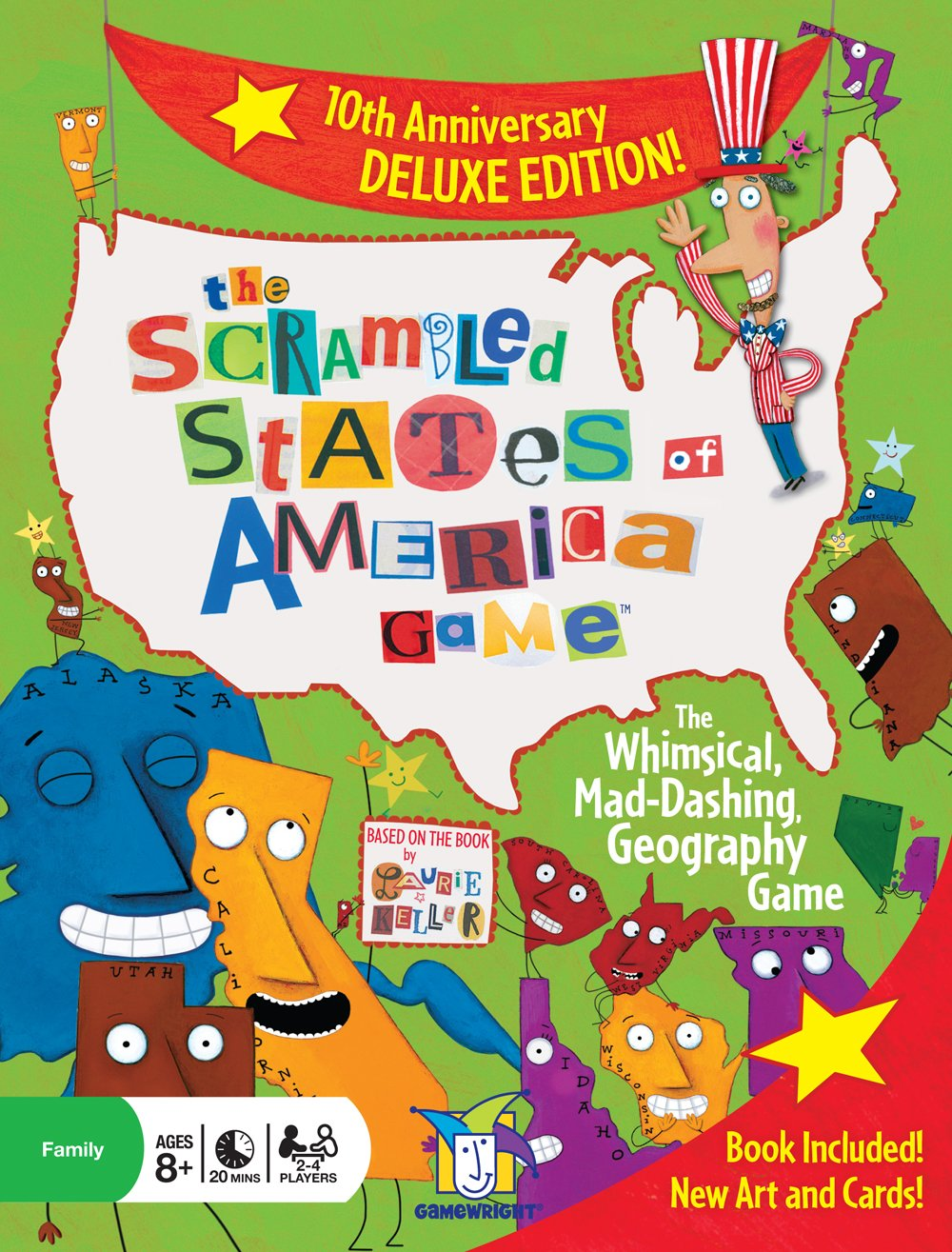 The Scrambled States of America Geography Game Tenth Anniversary Deluxe Edition