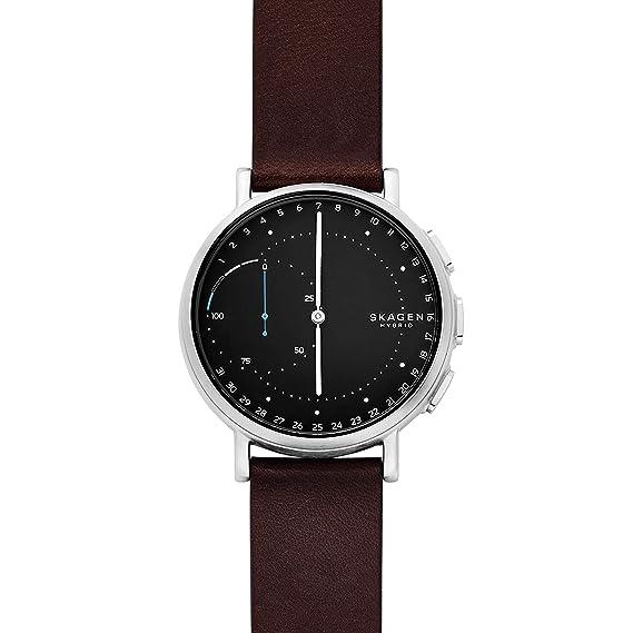 Skagen Reloj Analógico para Hombre de Cuarzo con Correa en Cuero SKT1111: Amazon.es: Relojes