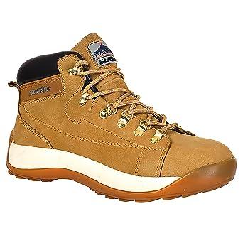 Portwest Steelite - Zapatos de seguridad de media caña en piel nobuk para hombre, 43