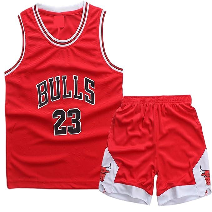 AnAn Lucky Camiseta Baloncesto niño/Basketball Jersey Set para Unisex - 23 Bulls Jordan / # 23 Lakers James / # 30 Warriors Curry/#25 Philadelphia ...