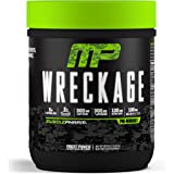 MusclePharm Wreckage Pre-Workout Powder with Superior Focus, Extreme Energy and Sustained Pump - Nitric Oxide, Beta Alanine, and Caffeine, Fruit Punch, 25 Servings