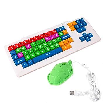 duragadget tastiera  DURAGADGET Tastiera Divertente e Colorata per Bambini + Mouse a ...