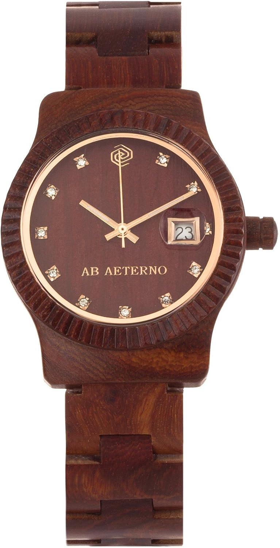 Ab Aeterno Aurora Damenuhr Sandelholz rot ABSW002