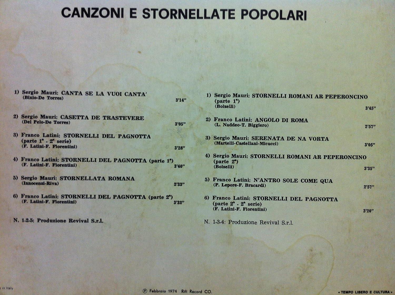 Osteria De Roma - OSTERIA DE ROMA CANZONI E STORENELLATE POPOLARI vinyl record - Amazon.com Music