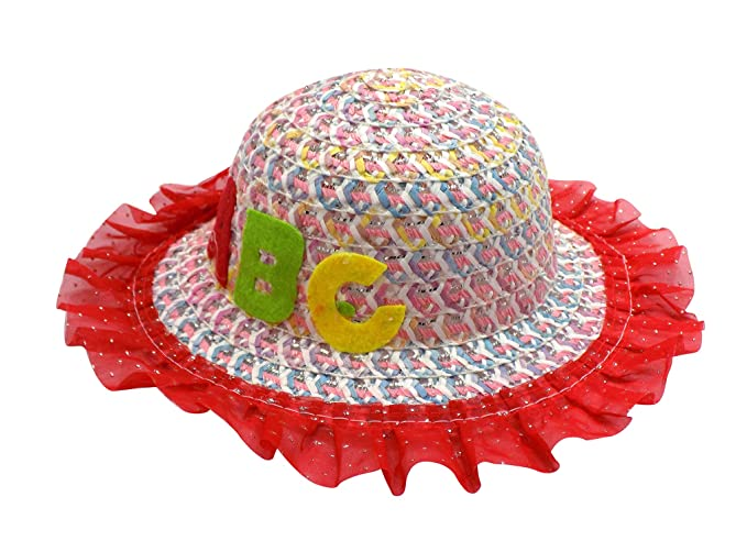 Buy Fully Beautiful Kids Hats Sun Protection Hats for Girls Cute Look Hat/ Caps Multicolor 10 Gram Pack of 1 (M10) at Amazon.in