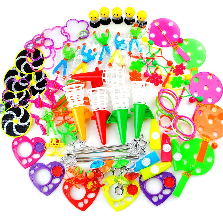 Amy&Benton Surtido de 80 juguetes para rellenar piñatas y bolsas de regalo de fiestas de cumpleaños infantiles o para el colegio 80pcs