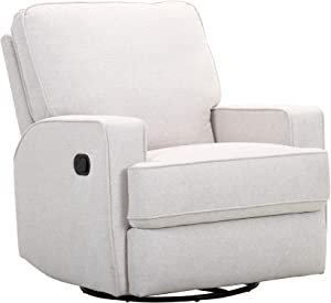 Amazon Brand – Ravenna Home Contemporary Swivel Glider Recliner Chair, 33.9