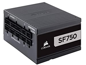 CORSAIR SF Series, SF750, 750 Watt, SFX, 80+ Platinum Certified, Fully Modular Power Supply