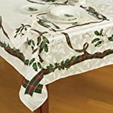 Amazon.com: Lenox Holiday Nouveau Tablecloth, 60 by-120-Inch ...