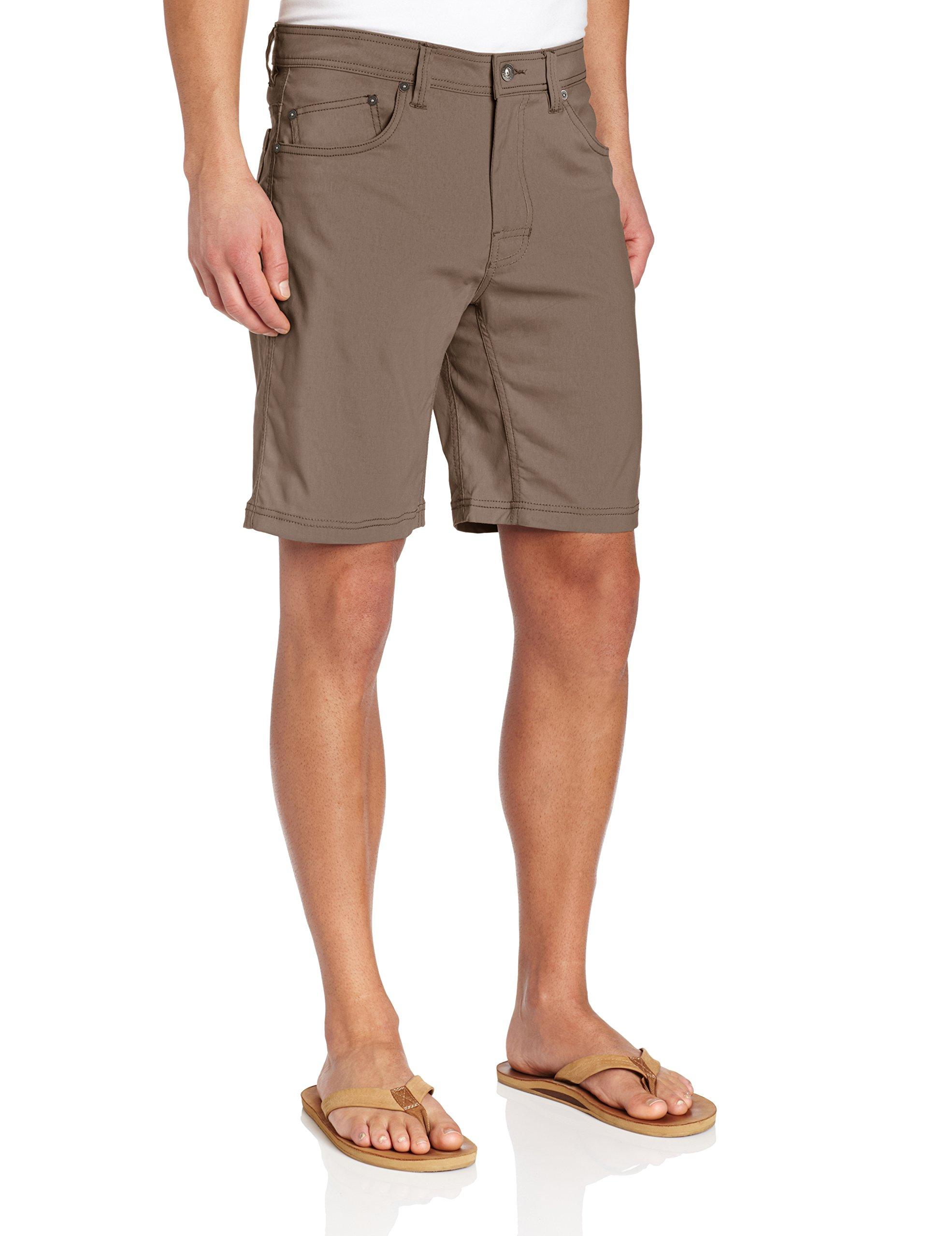 prAna Men's Brion Shorts, Mud, 28W 09L